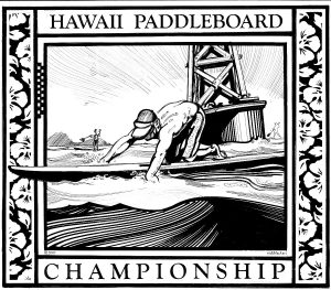 nick-black-art-paddleboard-championship-bw-2