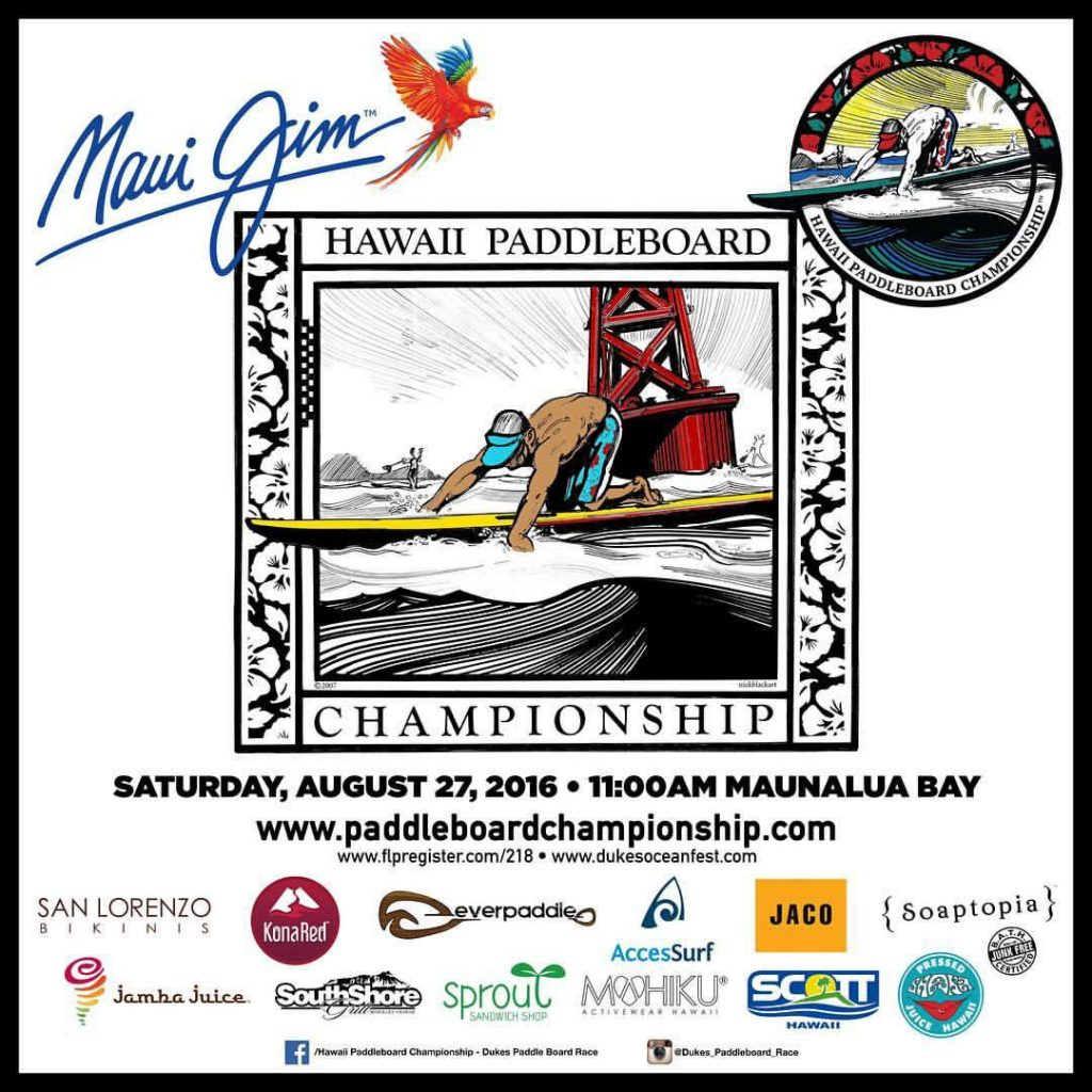 Register for Our Upcoming Paddleboard Race, August 27th, 2016!